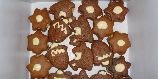 Biscotti con crema al torroncino