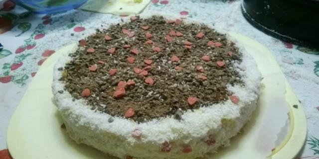Torta 4 C (Cioccolato, Cocco, Cuoricini e Crema)