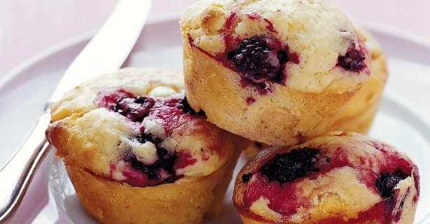 Muffin ai Frutti di Bosco e Cioccolato Bianco