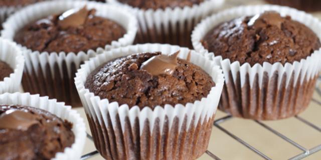 Muffin al Cioccolato Ripieni di Nutella