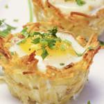 Cestelli di Patate con Uova