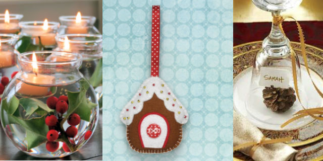 7 idee fai da te per decorare la tavola di natale roba - Idee addobbo tavola natale ...