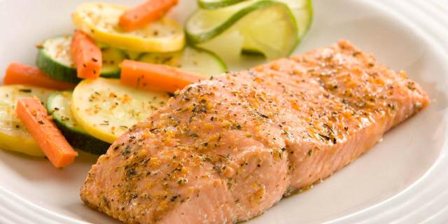 Tranci di salmone al forno