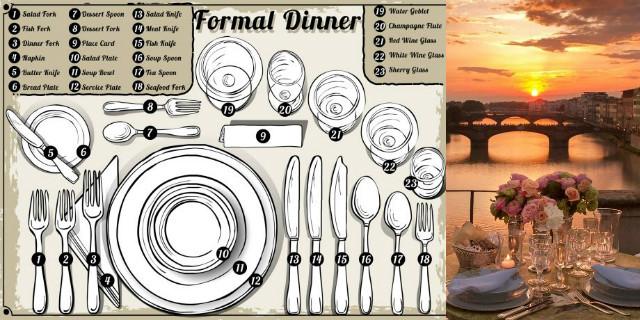 Galateo a tavola come apparecchiare roba da donne - Bon ton a tavola ...