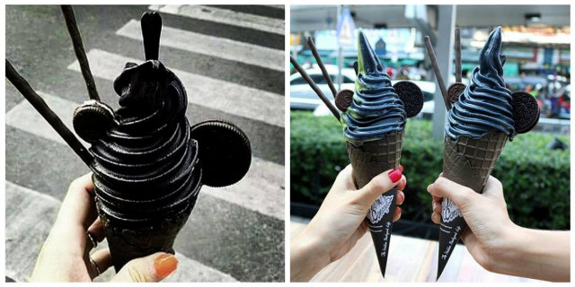 gelato nero black ice cream