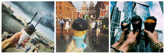 gelato nero black ice cream