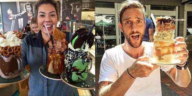 """Un """"mostro"""" di milkshake, il nuovo trend super goloso di Instagram: il Freakshake"""