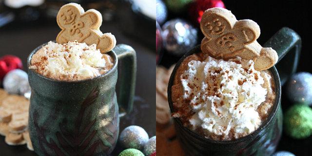 cioccolata calda biscotti zenzero