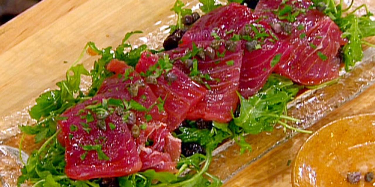 Ricetta carpaccio di tonno roba da donne for Pesce rosso costo