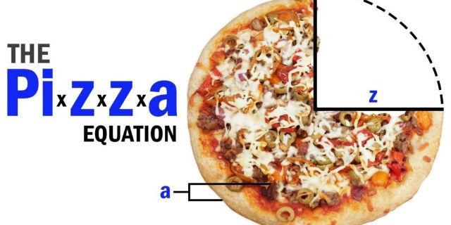 Conosci l'equazione della pizza? Ecco perché bisogna ordinarla SEMPRE grande