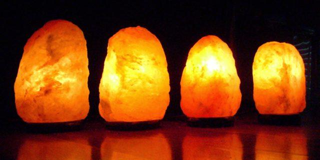 lampade di sale rosa dell'himalaya