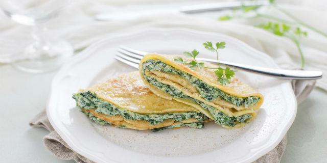 Crespelle ricotta e spinaci