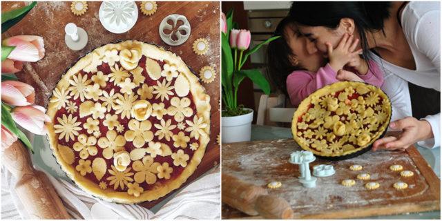 """""""Ho fatto questa crostata primaverile di fiori con mia figlia: vi spiego come"""""""