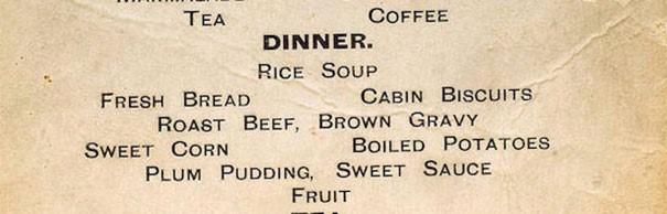 I menu del Titanic: la differenza tra i passeggeri di 1°, 2° e 3° classe