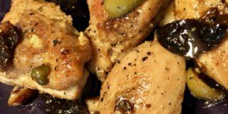 pollo alle prugne
