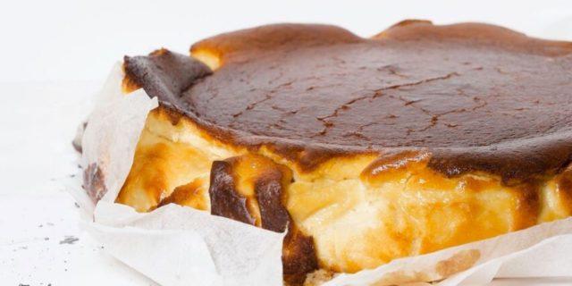 San Sebastian cheesecake (cheesecake basca)