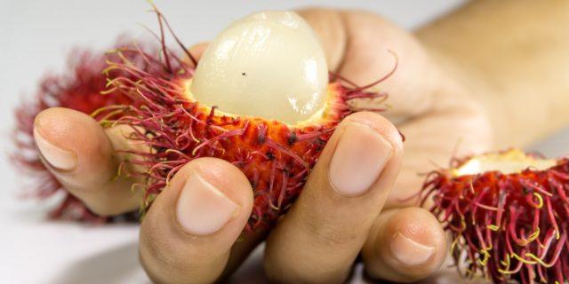 Il rambutan, un frutto esotico ricco di antiossidanti
