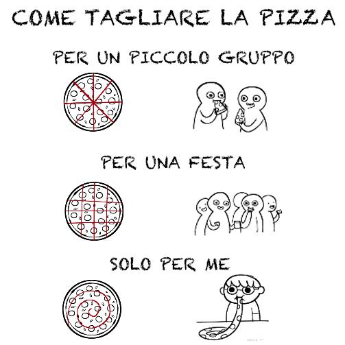 Come tagliare la pizza