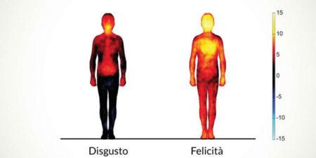 """Di che colore sono le emozioni e dove """"compaiono"""" nel nostro corpo? Ecco la mappa dei sentimenti"""