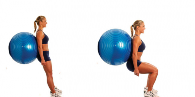 fitball squat