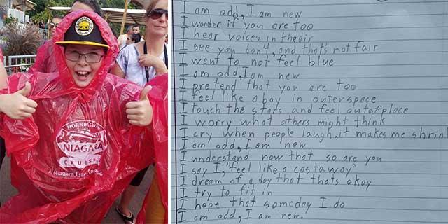 """""""Sono strano, sono nuovo"""": la poesia del bambino autistico che commuove la classe"""