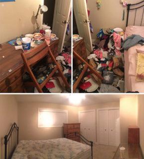 13 foto della camera da letto di persone durante e dopo le crisi depressive
