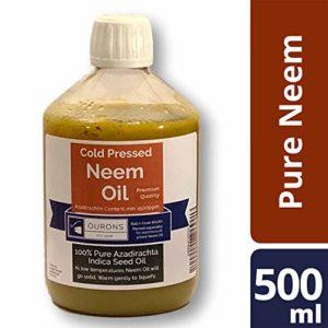 Olio di neem - 500ml di Puro Olio di Semi pressato a Freddo di qualità Premium