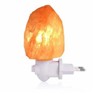 MINI Lampada di sale LEDGLE Salgemma dell'Himalaya 0.4 kg Aria Purificata Curativo Radiazioni Ionizzanti, lampada da parete con spina USB