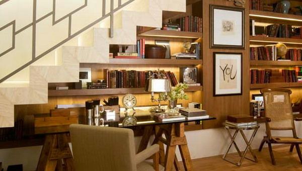 Sottoscala con mensole soggiorno  Sottoscala: 69 Idee per Sfruttare ...