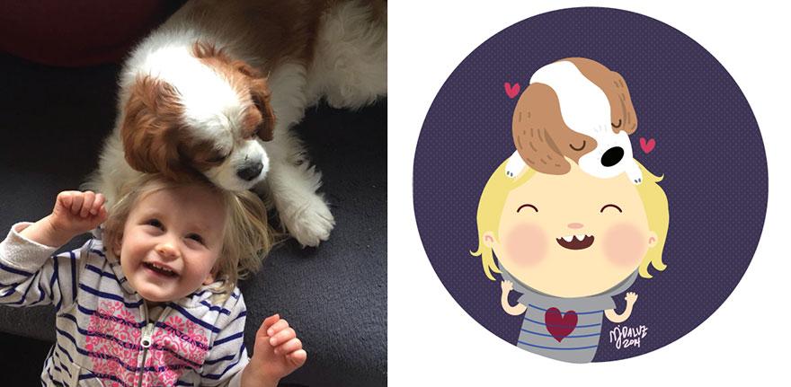 L'Artista che Trasforma le Foto dei Bambini in Cartoni Animati