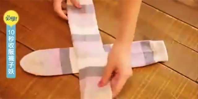 Un modo geniale per piegare i calzini senza occupare troppo spazio