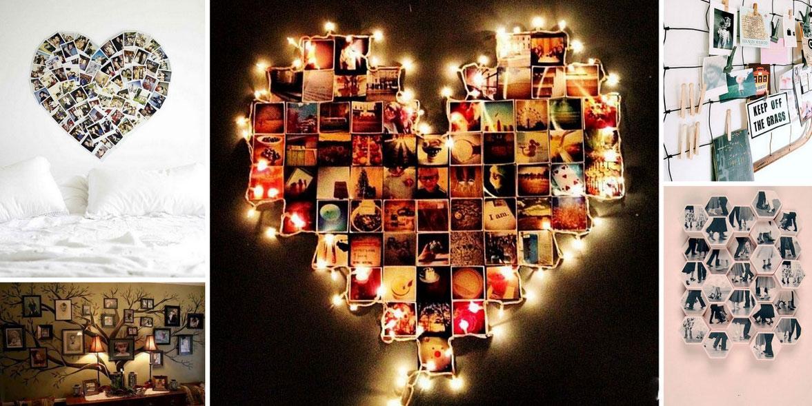 Decorare le pareti con le tue foto 30 idee originali for Idee per abbellire la camera