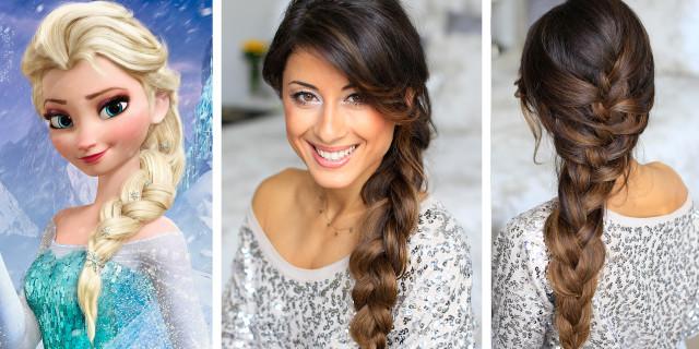 Come Fare la Treccia in stile Elsa di Frozen [Tutorial]