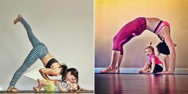 Lo Yoga? Lo Faccio con la Mamma: Ecco le Dolcissime Foto!