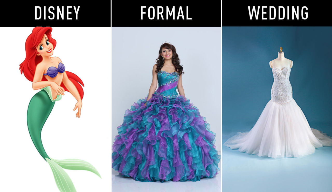 Disney Princess Wedding Dresses Ariel. evil queen | Liana\'s Paper ...
