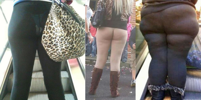 Persone che Non si Rendono Conto di Indossare i Leggings nel Modo Sbagliato