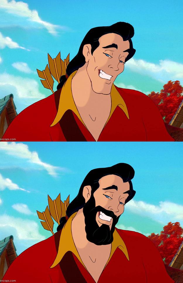 Come Sarebbero i Principi della Disney Con o Senza Barba?