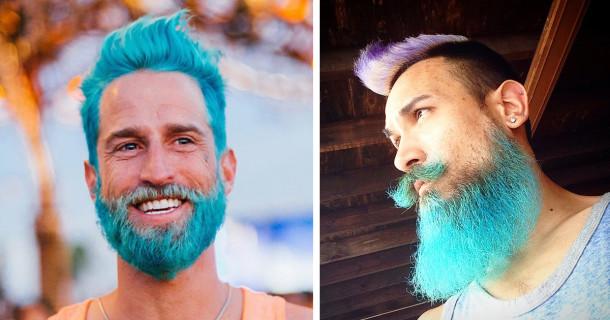 Moda Uomini: la Barba è Ancora di Tendenza... Ma Si Colora!