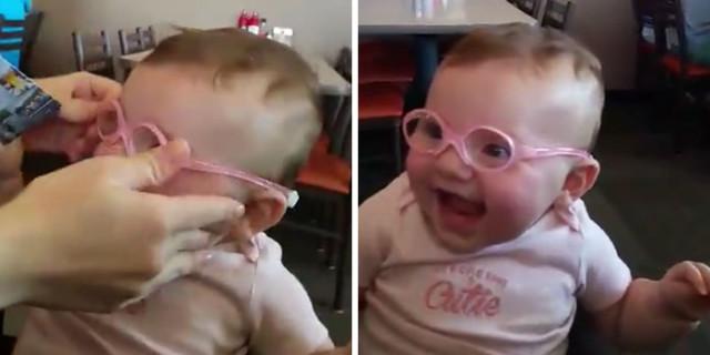 Con Questi Occhiali Vede per la Prima Volta Mamma e Papà: la Reazione