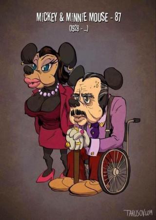 E Se i Personaggi dei Cartoni Animati Invecchiassero? Ecco Come Sarebbero