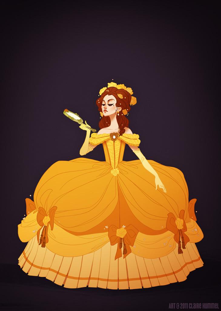 Come Sarebbero Vestite le Principesse Disney in Base al Loro Periodo Storico