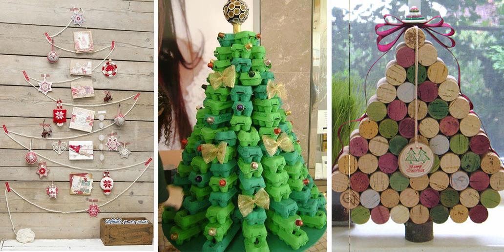Le idee per l 39 albero di natale fai da te - Decorazioni natalizie albero fai da te ...