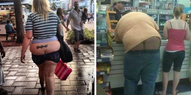 32 Assurde Foto di Persone Che Indossano Pantaloni a Vita Troppo Bassa
