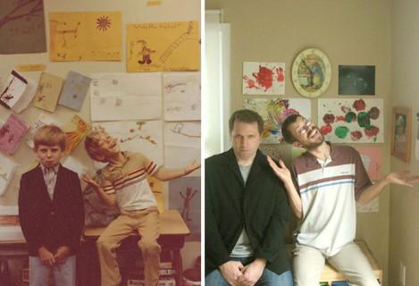 38 Foto d'Infanzia Scattate di Nuovo 20 Anni Dopo: Ecco i Risultati!