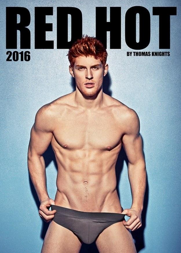Il Calendario Hot dei Modelli dai Capelli Rossi che Infuocherà il Vostro 2016
