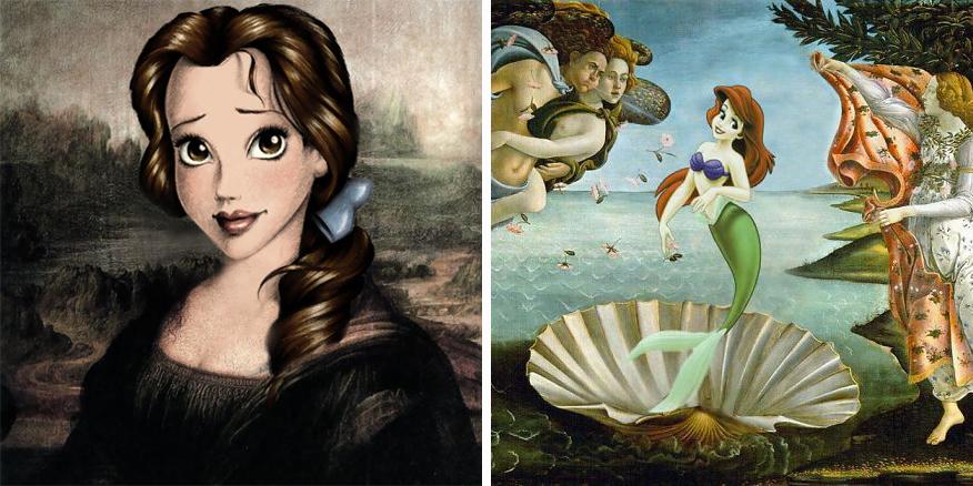 Opere d arte famose interpretate dai personaggi dei