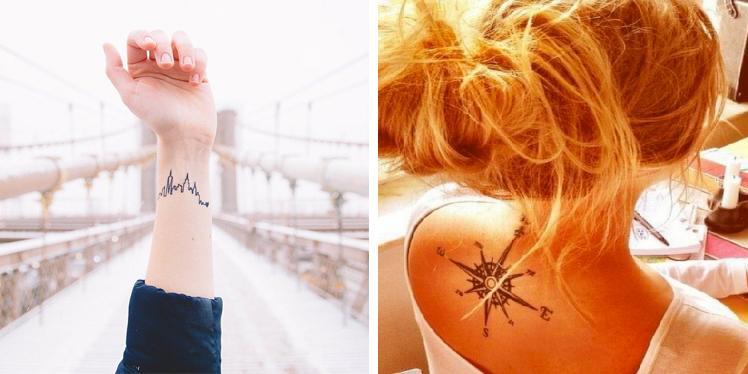 Cartina Mondo Tatuaggio.Tatuaggi Per Chi Ama Viaggiare Nel Mondo 28 Idee Roba Da Donne