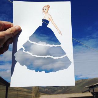 L'Artista che Crea Stupendi Abiti Utilizzando le Nuvole o i Paesaggi. Ecco 30 Creazioni!