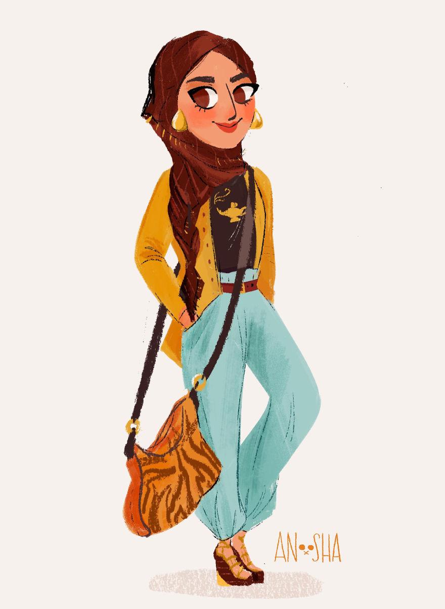 Ecco Come Sarebbe le Principesse Disney se Fossero Adolescenti nel XXI Secolo
