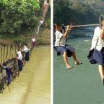 20 Percorsi Pericolosi Nel Mondo Che I Bambini Devono Fare Per Andare a Scuola